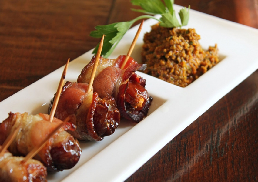 Dates & Bleu Cheese Wrapped in Bacon Image