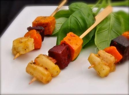 Roasted Root Vegetable Kabob Image