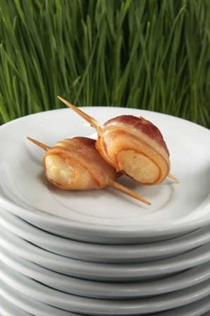 Water Chestnuts Wrapped in Bacon Image
